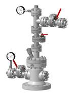 Арматура устьевая АФК1(Ш)-65х21К1(К2)М4-05. Без задвижки на боковом отводе трубной головки с заглушкой.