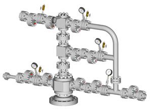 Комплект устьевой АФК3a-65 (80,100)х21 (14,35)К1(К2)-Ку