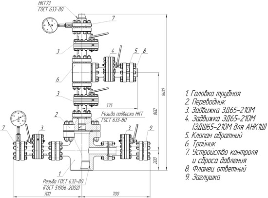 АНК1 (Ш)-65х21 (14,35)К1(К2) Схема