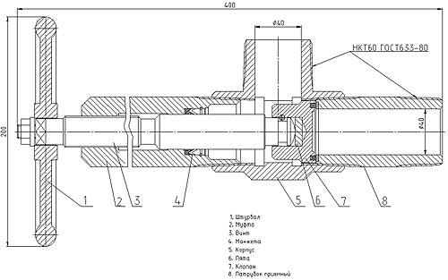 КЗ1-50х14(16) Схема